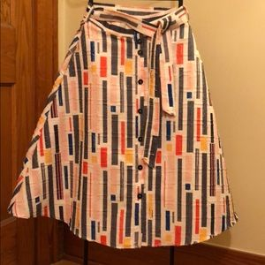 Anthropologie High Waisted Skirt
